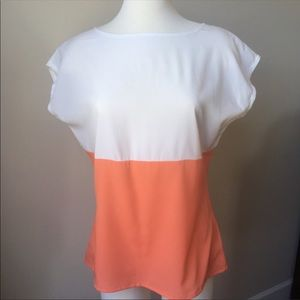Banana Republic two tone top